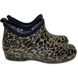 Capelli New York Ankle Slip On Rain Boots Leopard
